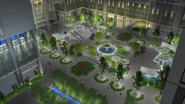 Khuôn viên dự án Eco-green city