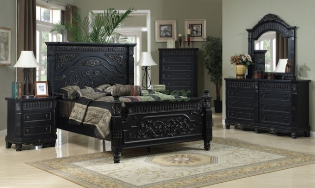 king size black vintage bedroom furniture sets design ideas