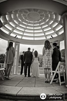 photograph of a wedding ceremony in boulder colorado