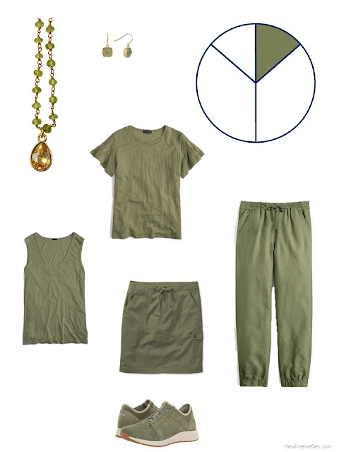olive green additions to a summer travel capsule wardrobe