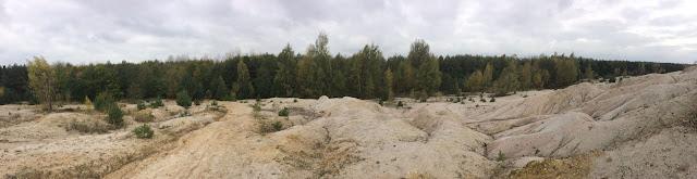 Ein Panorama der Sandebene Höller Horn