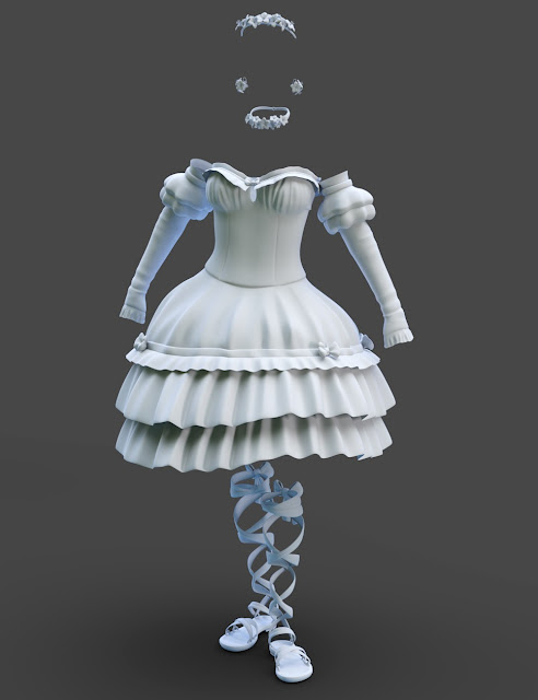 Hanami Outfit for Genesis 3 Female