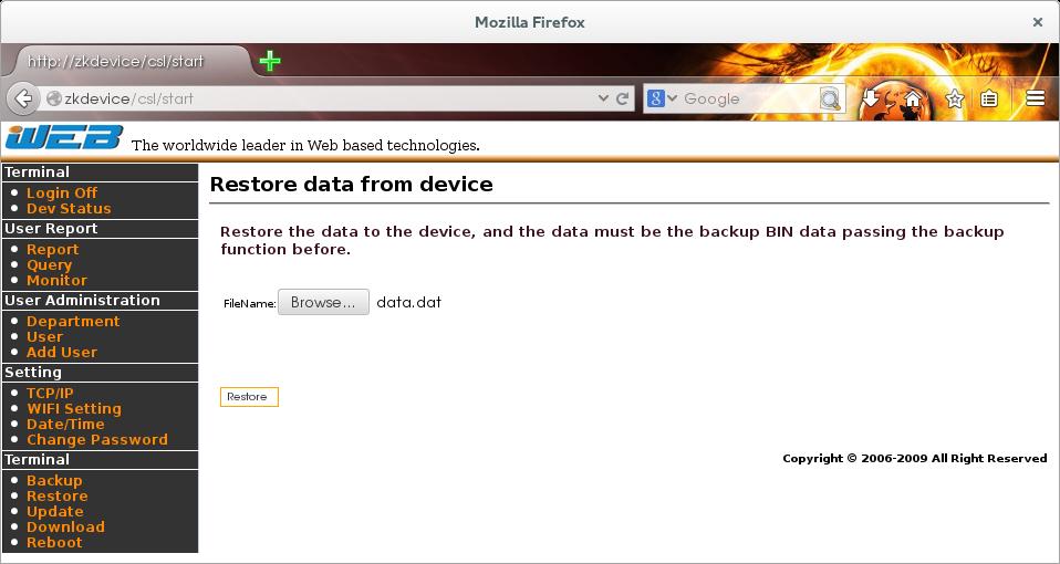 Perverting Embedded Devices - ZKSoftware Fingerprint Reader (Part I