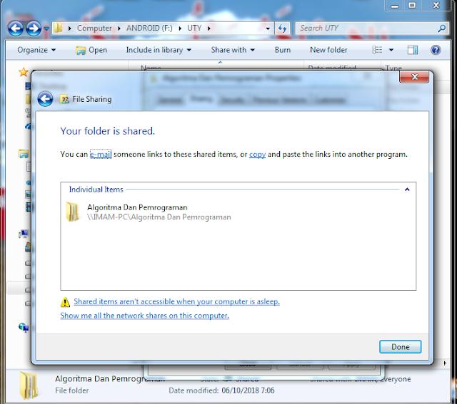 Sharing file atau folder 6