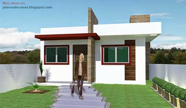 Plano de casa peque a moderna de 53 m2 planos de casas for Casa moderna 140 m2