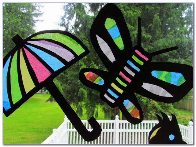 Stained GLASS Paper For WINDOWS ideas