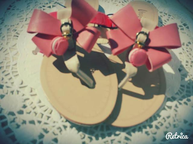 Sandali Macarons in Fimo