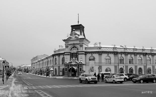 Кремлёвская улица и здание Гостиного двора, ныне Национальный музей Татарстана.