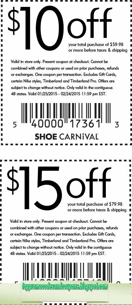 printable coupons for shoe carnival in store