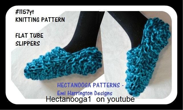 Hectanooga Patterns Free Knitting Pattern Flat Tube Slippers 2