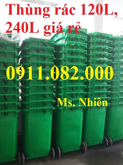 Thùng rác chuyên sỉ giá rẻ- hạ giá thùng rác 120 lít giá thấp