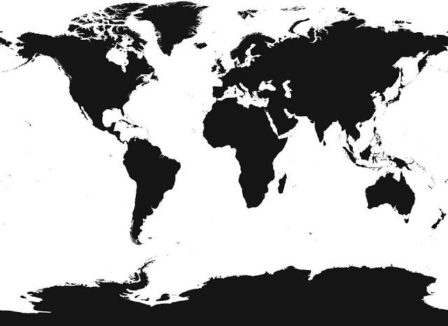 Maailmankartta tapetti karta world map Valokuvatapetti musta valkoinen