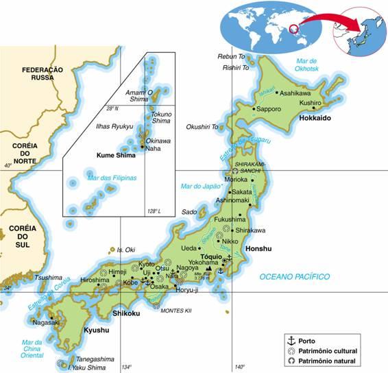 JAPÃO, ASPECTOS GEOGRÁFICOS E SOCIOECONÔMICOS DO JAPÃO