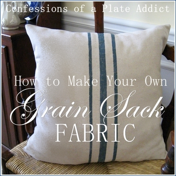how to make your own grain sack fabric