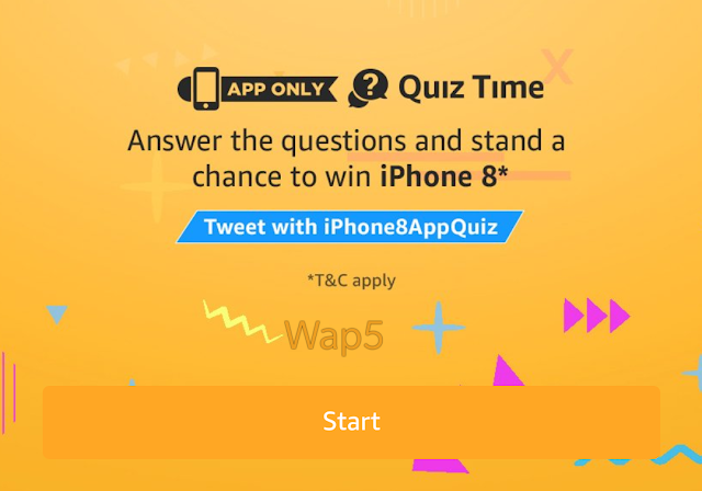 Amazon Quiz Time- Answer & Win iPhone 8 (Full Answers are Revealed)