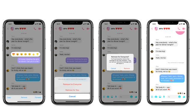 eliminar mensaje de messenger