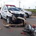 Motociclista morre após acidente envolvendo viatura da Polícia Militar em Grajaú