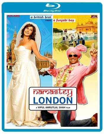 Poster Of Namastey London 2007 Hindi 400MB BRRip 480p Free Download Watch Online