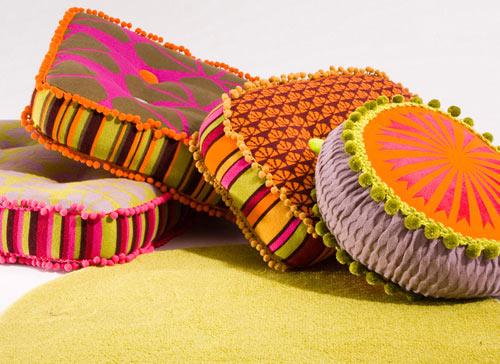 Diseño de textiles fabulosamente coloridos.