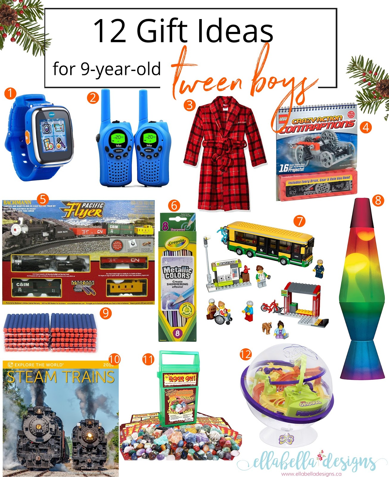 ellabella designs: 12 gift ideas for 9-year-old tween boys gift guide