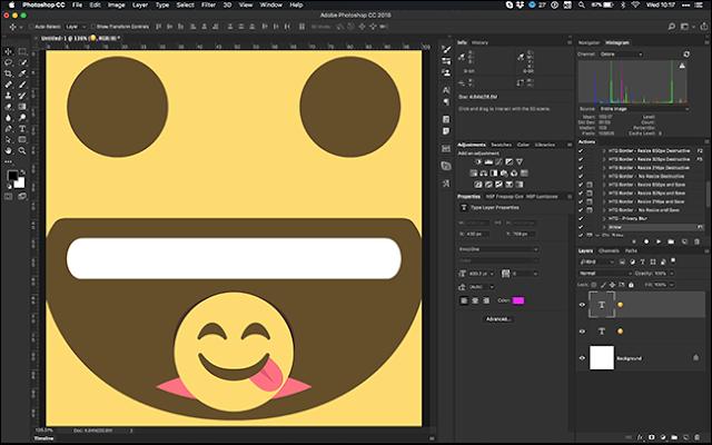Cara Menambahkan dan Membuat Emoticon / Emoji di Photoshop