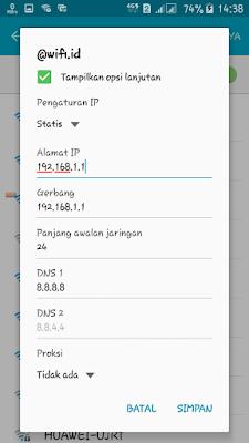 solusi tidak bisa login wifi id di hp android