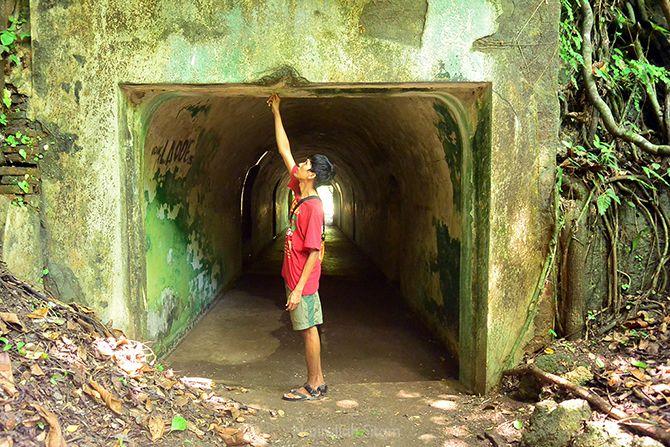Lorong pos penjagaan di benteng
