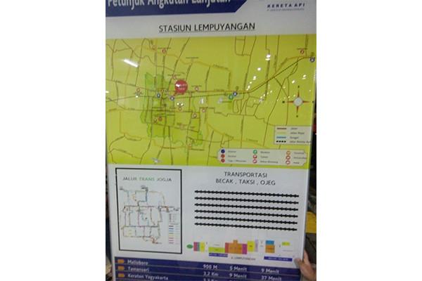 peta transportasi stasiun lempuyangan