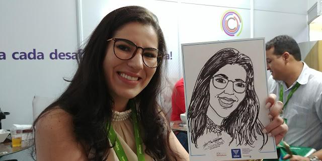 Caricatura ao vivo é com o Desenhista Marcelo Lopes de Lopes