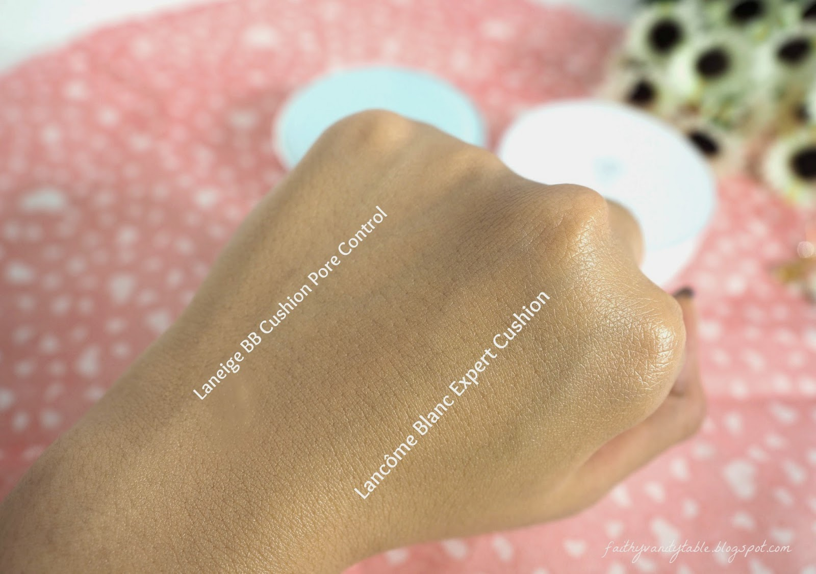 Review of Lancome Blanc Expert Cushion UV and Laneige BB cushion pore control