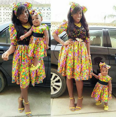 cute mother daughter ankara