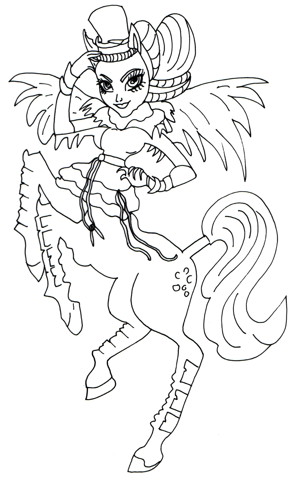 Free Printable Monster High Coloring Pages: Avea Trotter