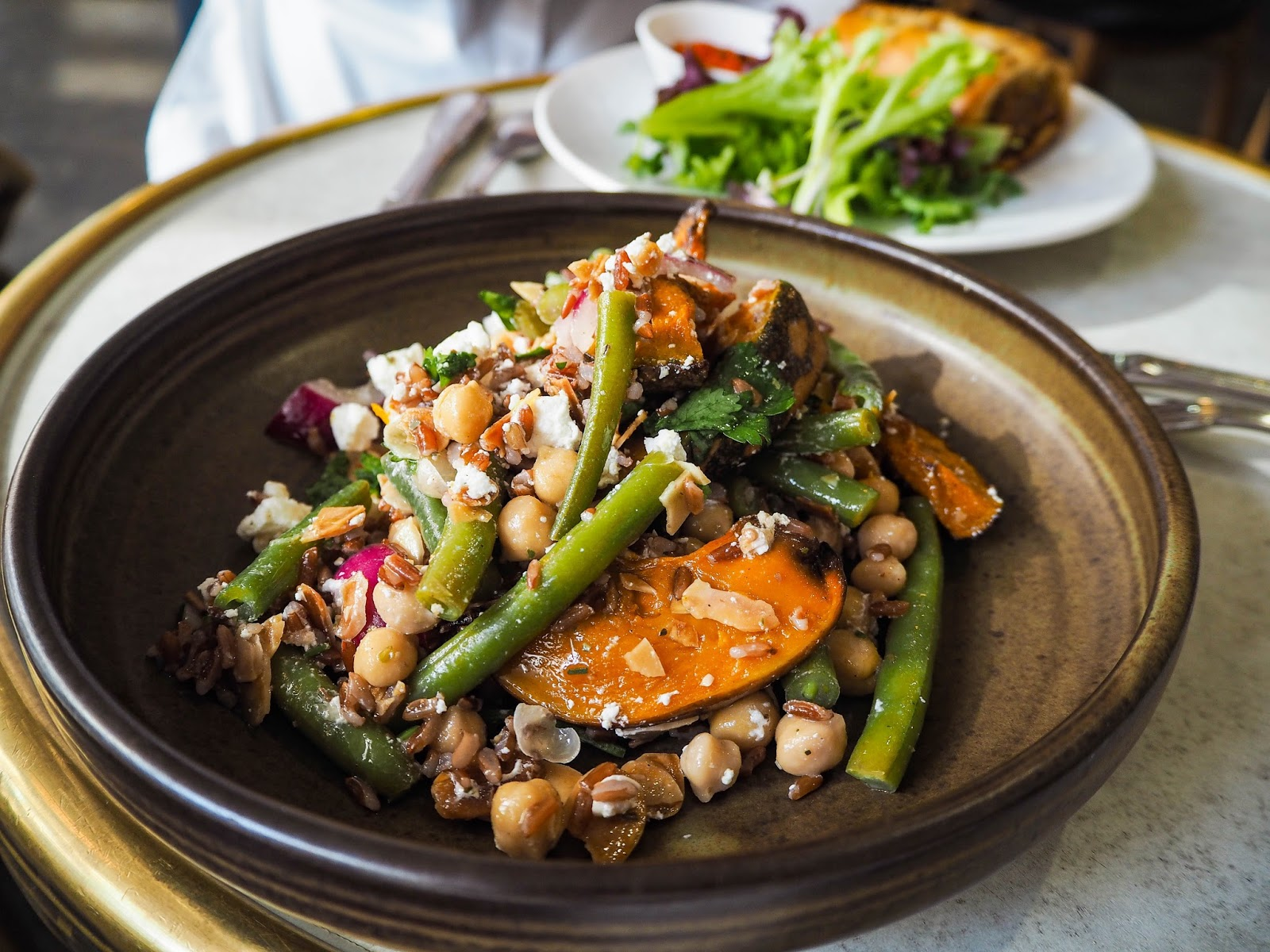 Pumpkin and green bean salad