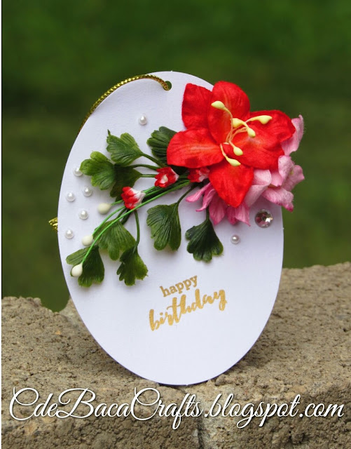 Handmade happy birthday gift tags by CdeBaca Crafts