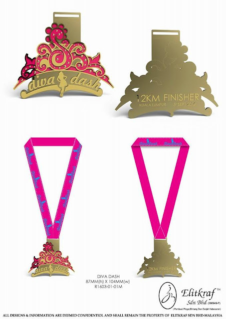Diva Dash KL 12km Finisher Medal