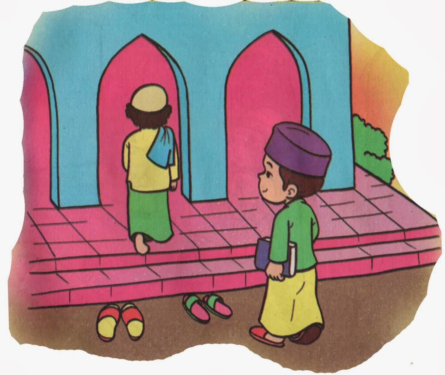 Hasil gambar untuk gambar tentang orang berdoa masuk masjid