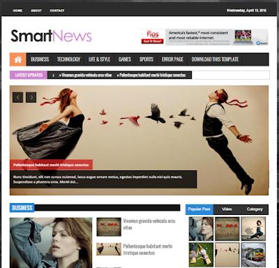 Smart News Responsive Blogger Template Blogger , Smart News Responsive Magazine News Blogger Templates