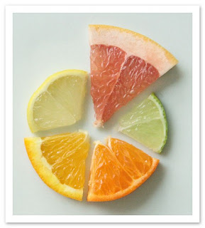 A variety of citrus fruits to explore smells