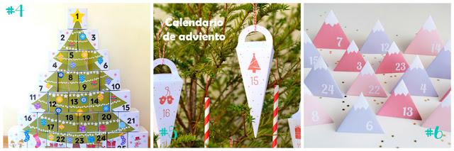 calendario de navidad para imprimir