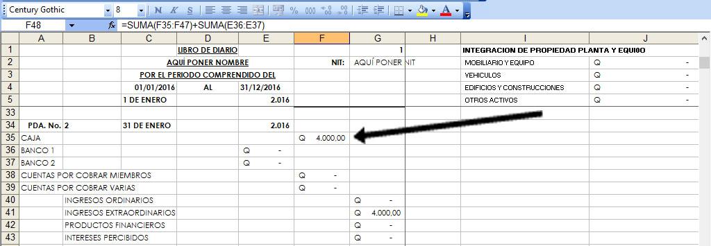 Registro de gastos con cheques en contabilidad de excel-Como ...