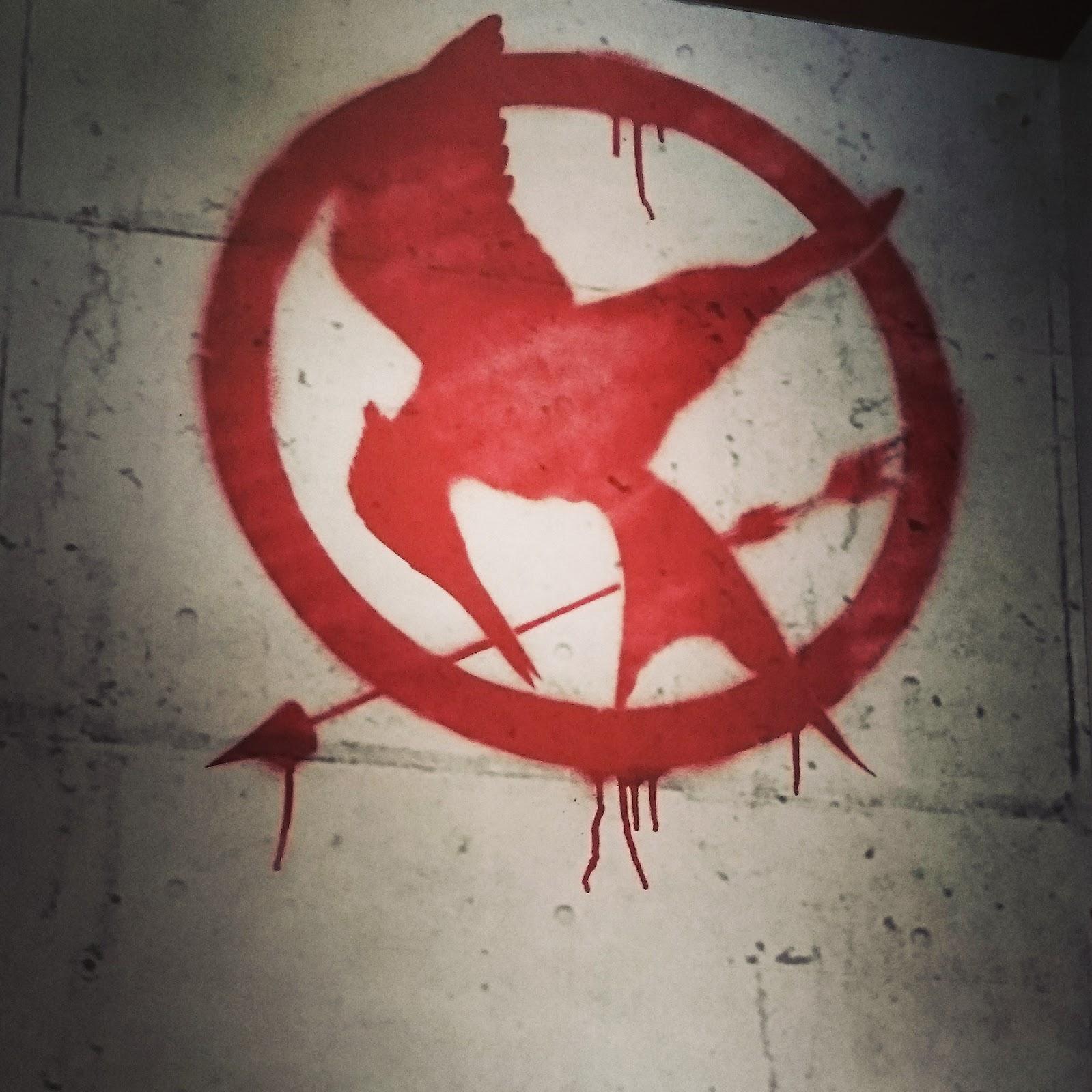 Mockingjay symbol at Hunger Games Exhibition
