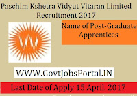 Kshetra Vidyut Vitaran Limited Recruitment 2017–Graduate Apprentices
