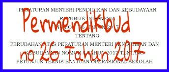 Permendikbud No 26 Tahun 2017