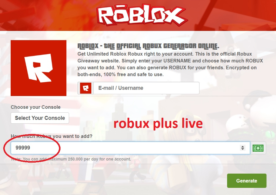 Free Robux Giveaway Roblox Free Robux Generator Earn Roblox