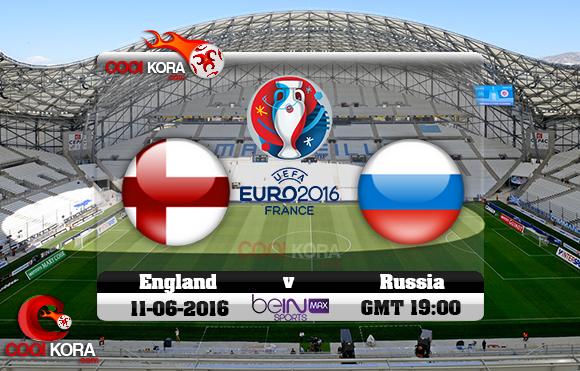 مشاهدة مباراة إنجلترا وروسيا اليوم 11-6-2016 بي أن ماكس يورو 2016