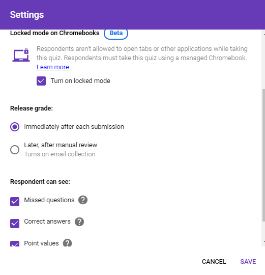 Tech Coach Stam: Google Forms - Locked Down Mode