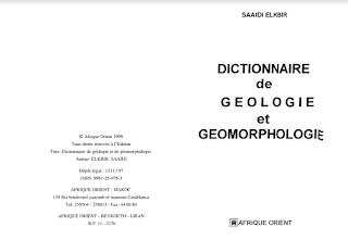 معجم الجيولوجيا والجيومورفولوجيا Dictionnaire de Géologie et Géomorphologie pdf