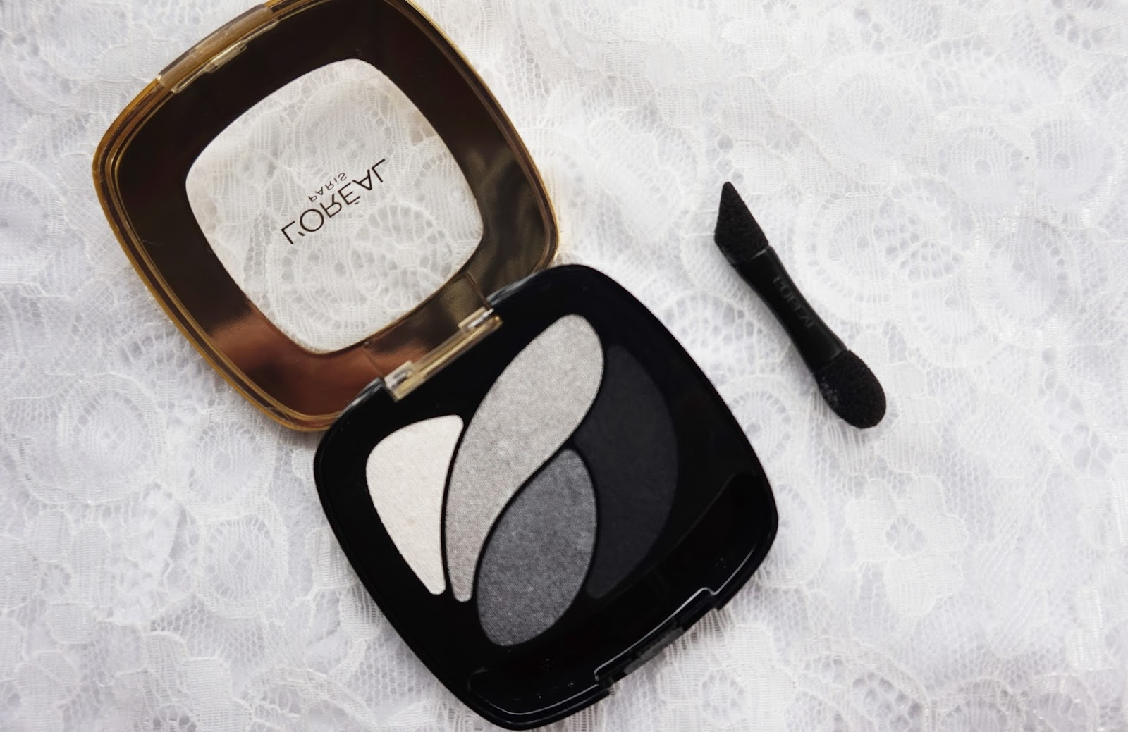 L'oreal Color Riche Les Ombres Eyeshadow in Velours Noir Review + Swatch