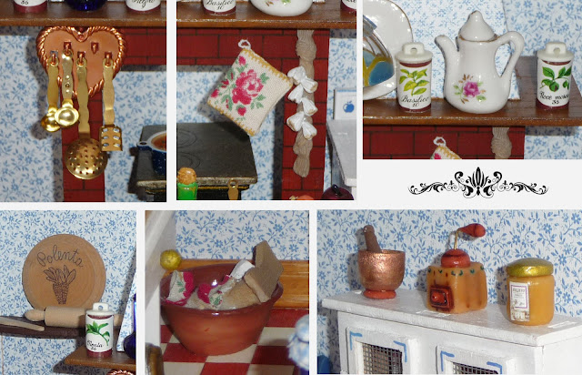 Morandi Sisters Microworld Villa Rosada Dollhouse Kitchen