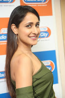Pragya Jaiswal in a single Sleeves Off Shoulder Green Top Black Leggings promoting JJN Movie at Radio City 10.08.2017 142.JPG